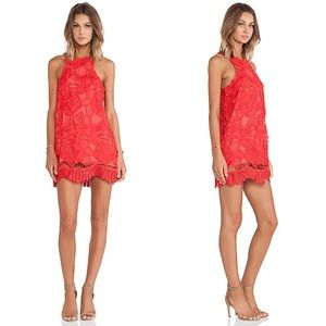Lovers + Friends Coral Caspian Shift Mini Dress